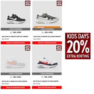 Kids: 20% korting @ Perry + Aktiesport || o.a. Nike Air Max SC kids sneakers = €39,99
