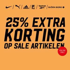 25% extra korting op de sale @ Aktiesport