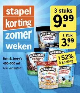 3x Ben & Jerry's voor 9,99 Albert Heijn