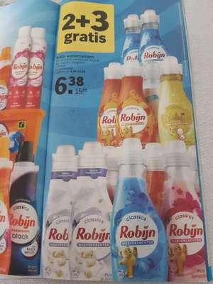 Robijn wasverzachter 2 + 3 gratis bij Albert Heijn