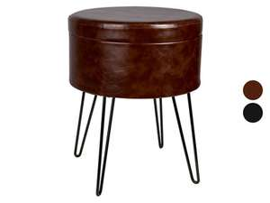 Livarno Living kruk met opbergruimte in zwart of bruin voor €14,99 @ Lidl-shop