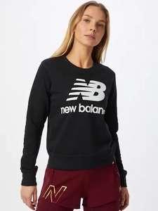New Balance Sweatshirt in de kleur Zwart / Wit