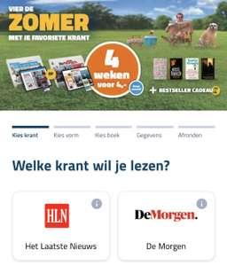 [België] 4 weken de krant + bestseller voor €4,-