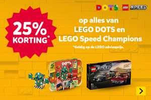 Intertoys: 25% korting op Lego Speed Champions en Lego DOTS