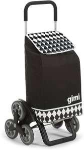 Gimi Tris Optical boodschappentrolley zwart 3 + 3 wielsysteem