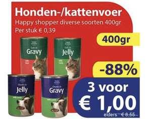 3 blikken van 400g katten/hondenvoer €1 @ Die Grenze (+ verzamelaanbiedingen week 28)