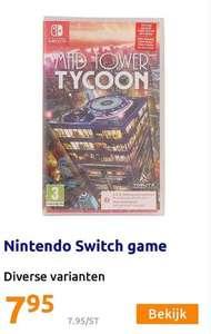 Switch games van €9,95 naar €7,95 per stuk vanaf 14/07 bij Action