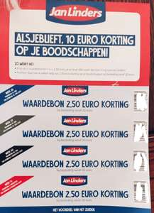 4x €2.50 korting komende 4 weken bij besteding van €20 @Jan Linders