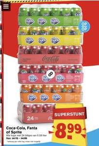 Tray - 24 stuks Coca Cola, Fanta of Sprite