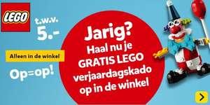 5 euro lego korting + gratis poly bag bij Intertoys (enkel rondom verjaardag)
