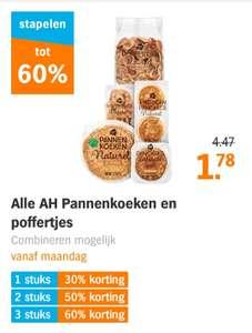 60 % korting bij 3 poffertjes/pannenkoeken