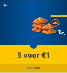 5 croissants voor €1,-