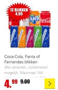 Dirk Coca-Cola, Fanta of Fernandes 12 blikken voor 4.99. Alle varianten, combineren mogelijk