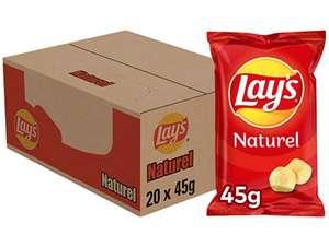 Lay's Naturel Chips, Doos 20 stuks x 45 g