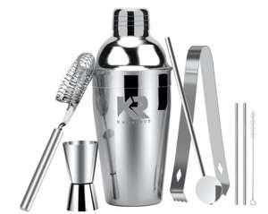 Robuuste Kwaliteit Cocktailshaker Set RVS + 2 gratis RVS rietjes