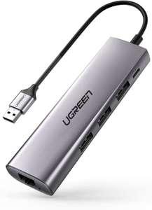 UGREEN Hub met 3 USB 3.0 Poorten en Ethernet poort voor €17,99 @ Amazon.nl