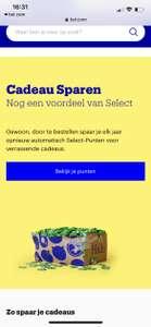 Punten sparen met Select bij Bol.com