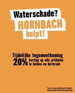 -20% Tegemoetkoming alle gedupeerden waterschade @ Hornbach Geleen / Kerkrade [LOKAAL]