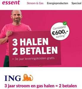 gas en stroom deal bij Essent voor 1000 ING punten.