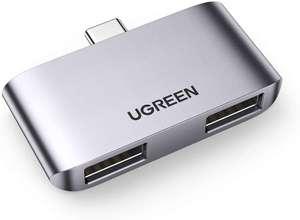 UGREEN USB-C OTG adapter met 2x USB 3.0 poort voor €9,99 @ Amazon NL