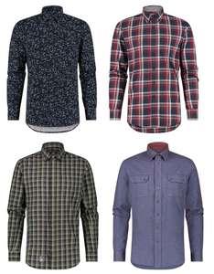 Heren overhemden voor €3,60 p.s. (92 à 93% korting) @ ANWB