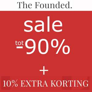 Tot 90% korting + 10% extra @ The Founded [o.a. Jack & Jones / name it / VILA etc.]
