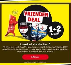 Alle Lucovitaal Vitamine C en D - 3 halen 1 betalen!