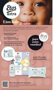 Etos baby extra, gratis producten bij aanmelden zwangerschap