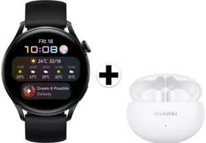 [Lokaal!] Huawei watch 3 Active Zwart/Zwart + FreeBuds 4i Wit