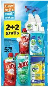 AJAX en Dettol, 2 + 2 gratis, bonus aanbieding bij Albert Heijn vanaf 26-07