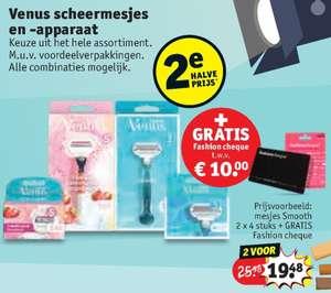 Kruidvat: gratis €10,- Fashioncheque bij aankoop Venus scheermesjes!