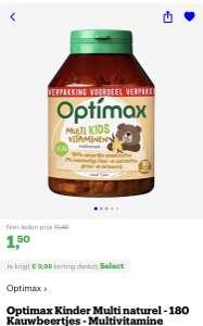 [select deal bol.com] Optimax Kinder Multi naturel - 180 Kauwbeertjes - Multivitamine €1,50