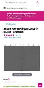 Zijden voor tent Lagos (leenbakker)