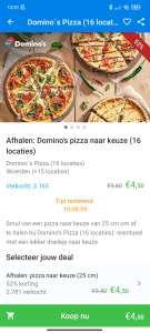 Afhalen: Domino's pizza naar keuze (16 locaties) @Domino's pizza