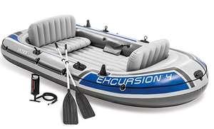 Intex Excursion 4 Set rubberboot - 315 x 165 x 43 cm - 3-delig - Grijs / Blauw
