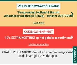 10% (extra) korting Holland & Barret op bijna alles alleen vanavond