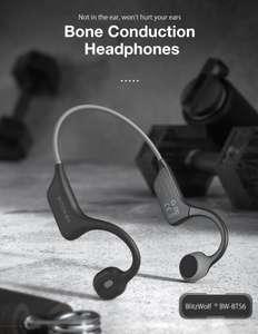 BlitzWolf® BW-BTS6 bluetooth 5.0 Headphone True Bone IPX7 Waterproof with Mic