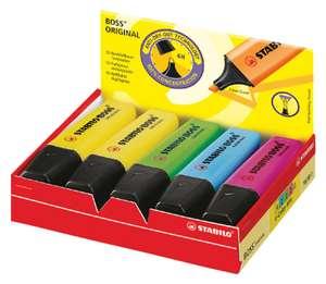 10 markeerstiften Stabilo Boss (verschillende kleuren)