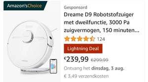 Dreame D9 robotstofzuiger [Lightning deal]