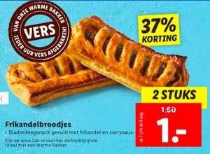 Twee Frikandel broodjes bij de Lidl voor €1