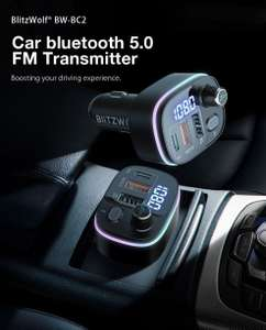 BlitzWolf® BW-BC2 bluetooth Autolader Led Display carkit