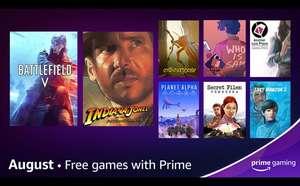 Amazon Prime Gaming - Augustus 2021