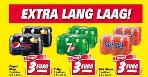 Pepsi Max, 7-Up en Sisi €3 per 12 blikjes - Nettorama