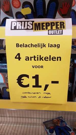 Veel artikelen 4 voor €1 @Prijsmepper Zoetermeer