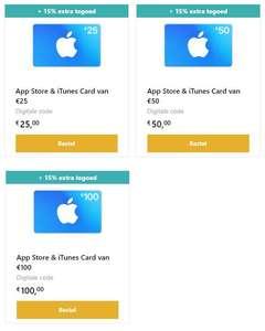 15% extra tegoed op iTunes & App Store kaarten @ Startselect