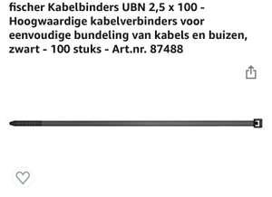 100 Kabelbinders (gratis verzending met Prime)