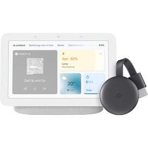 Google Nest Hub (2e generatie) + Chromecast bundel - Charcoal bij Bol.com met select