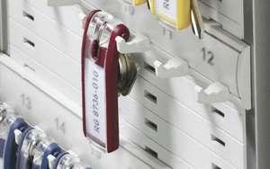 Durable sleutelhanger, sleutel label. (Rood, 6 stuks)