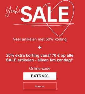 C&A sale met 20% extra korting
