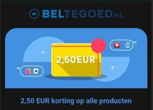 2,50 korting bij beltegoed.nl (Ook op cadeaubonnen)